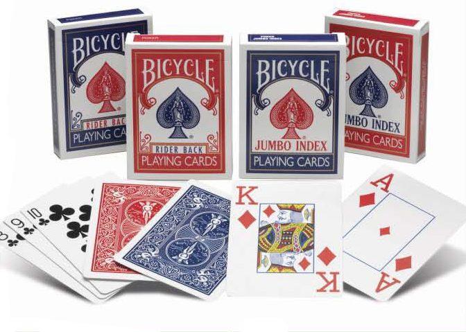 Карты игральные Bicycle Standard (синяя или красная рубашка)