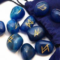 Руны из камня купить в Украине. Руны Голубой Оникс