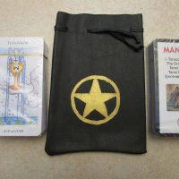 Мешочки кожаные для Таро купить в Украине. Пентаграма