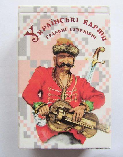 Карты игральные сувенирные Украинские купить
