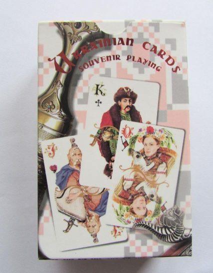 Сувенирные игральные карты Украинские