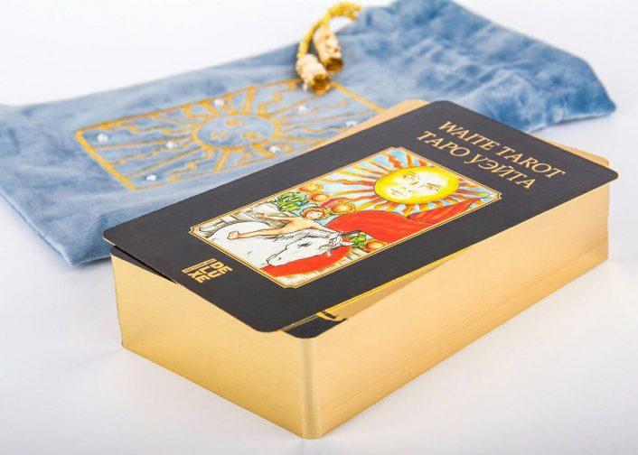 Таро Райдера Уэйта в золоте купить набор в Украине