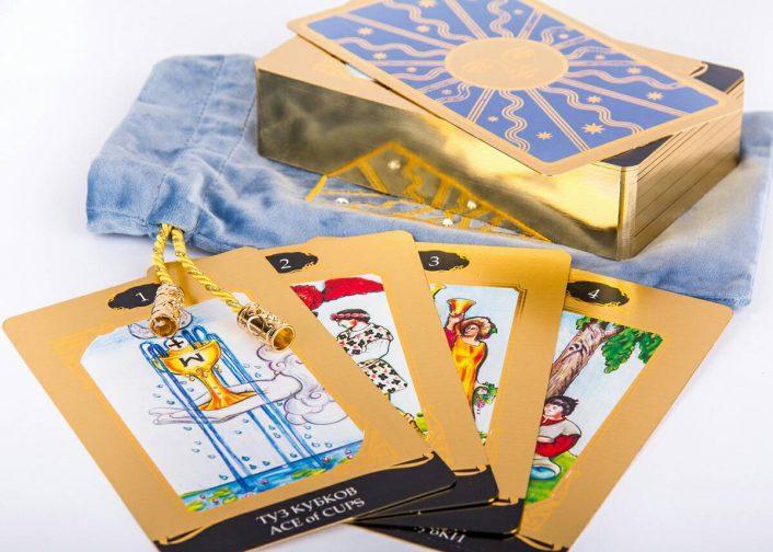 Таро Райдера Уэйта в золоте купить набор