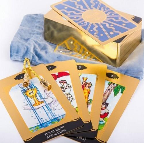 """Таро Райдера Уэйта """"в золоте"""". Подарочный набор!"""